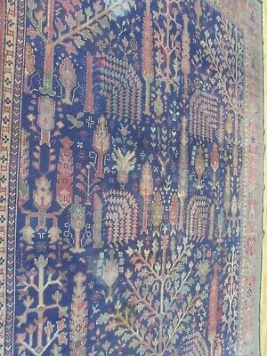 ANTIQUE HANDMADE TURKISH WOOL ON WOOL CARPET(355 x 275 cm)