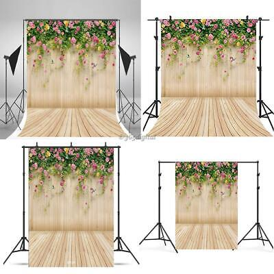 Portable Floral Print Collapsible Photography Backdrop Photo Props 35DI