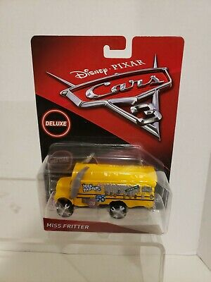 New Disney Pixar Cars 3 Deluxe Miss Fritter Diecast Vehicle New 2017 School Bus