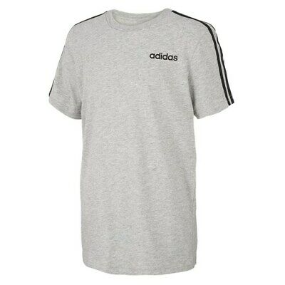 Adidas Big Boys Logo-Print Crew Neck T-Shirt 10//12 Black Size Medium 9871-1