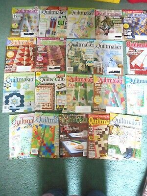 Quiltmaker magazine - lot of 20 (group 5)