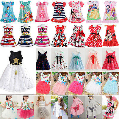 Toddler Kid Baby Girl Lace Casual Minnie Mouse Princess Party Casual Tutu Dress