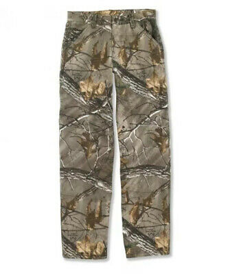 NWT Carhartt Real Tree Washed Camo Dungarees Jeans Size 7 Boys / Kids