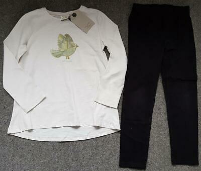 Girls Outfit, Zara Long Sleeve Top (New) And Leggings, 7 Years, 122Cm