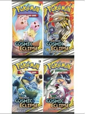 Booster Box Lot of 36 Pokemon Sun & Moon Cosmic Eclipse Booster Pack Sealed New
