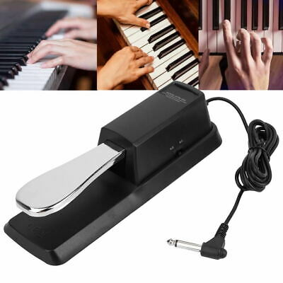 Universal Sustain Pedal Foot Switch Damper Black for Electric Piano Keyboard