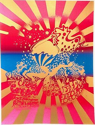 Pink Floyd Cream T.rex At Ufo, Hapshash & Coloured Coat Psychedelic Poster