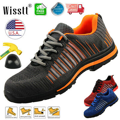 Mens's Safety Shoes Steel Toe Work Boots Indestructible Bulletproof Sneakers USA
