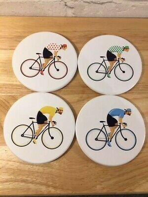 Cycling Cycle Works Classic Cycling  Bike  race~Set Of 4 Novelty Coasters