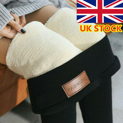 Women's Winter Warm Thick Trousers Fleece Lined Thermal Stretchy Leggings Pants/