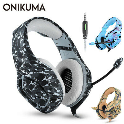 Gaming Headset Mic Headphones for PC PS4 Slim Xbox One Laptop 3.5mm ONIKUMA K1