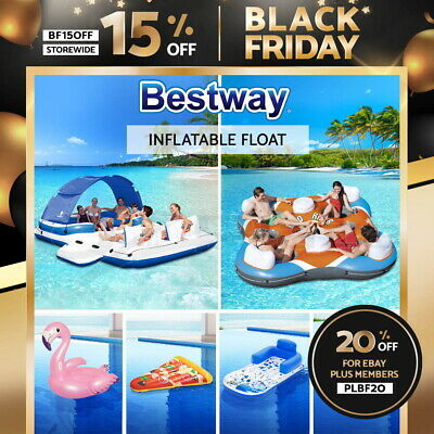 Bestway Inflatable Floating Water Float Pool Lounge Bed Swimming Chair Beach