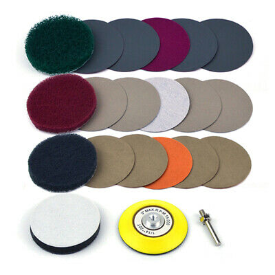Car Headlight Polishing Cleaning Discs Set Scouring Cloth Sandpaper Sponge Pads