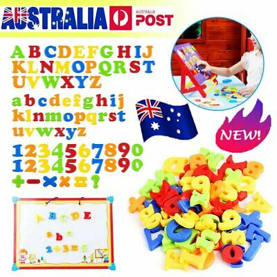 78PCS Magnetic Numbers Letters Alphabet Learning Toy Fridge Magnets Xmas gift IN