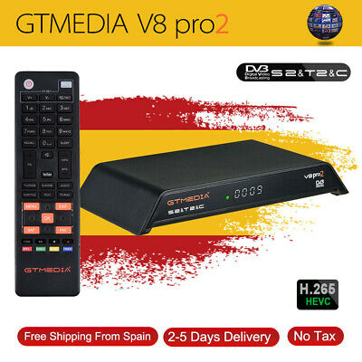 Gtmedia V8 PRO2 DVB-S2/T2/C/ISDB-T Satellite Receiver Built-in Wifi Full HD1080P