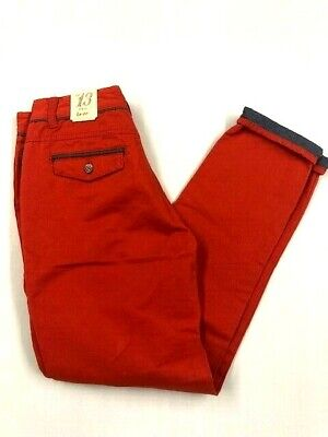 Boys Ted Baker Burnt Orange Chino Trousers Size 13 Years BNWT!