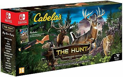 Nintendo Switch New Game * CABELA'S THE HUNT CHAMPIONSHIP EDITION with GUN *