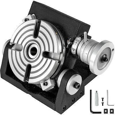 """6"""" 4-Slot Tilting Table Horizontal Vertical Rotary Table for Milling Machine"""