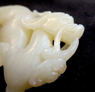 BIXIE Yellow JADE Antique CHINESE 19th CENTURY Or Earlier
