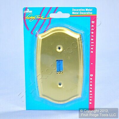 Leviton Brass Metal 1-Gang Toggle Switch Cover Wall Plate Switchplate 89601-CBR