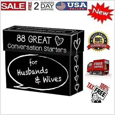 88 Great Couples Card Game Conversation Starters Husbands & Wives Adult Games Gi