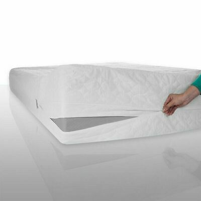 Bed Bug Dust Mite Zippered Cotton Mattress Protector - Twin Machine Washable