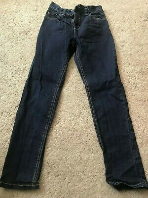 Next New Without Tags Boys Dark Blue Regular Fit Jeans Size 10 Years