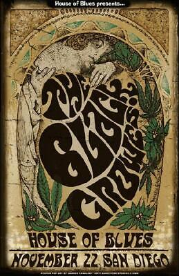 NEW THE BLACK CROWES HOUSE OF BLUES SAN DIEGO Rock Concert Poster