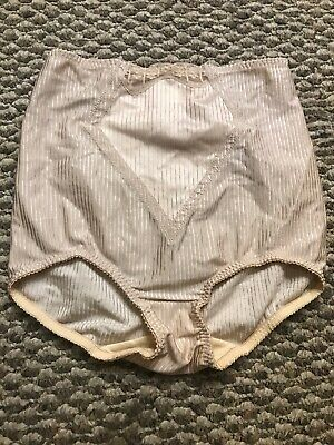 Vintage 1960's Lily of France Beige Panty Girdle. Size Medium USA ILGWU Label