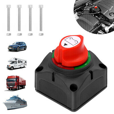 Car 12V Isolator Disconnect Rotary Battery Switch On/Off for SUV RV Marine Boat