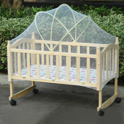 Babies Cradle Arched Mosquito Net Canopy Anti Insect Mesh Dome Curtain Bedcover