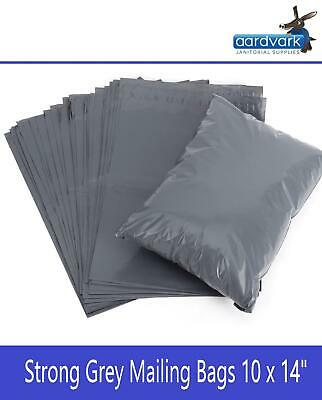 """Grey Mailing Bags Strong Parcel Postage Plastic Post Poly Self Seal 10 x 14"""""""