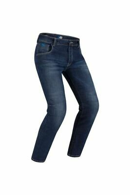 Mens Pmj New Rider 1 Layer Motorcycle Jeans Blue (Aa)
