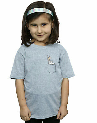 Looney Tunes Girls Bugs Bunny Faux Pocket T-Shirt