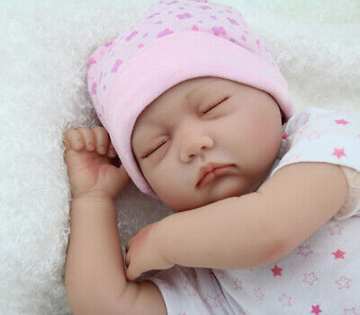 22'' Lifelike Reborn Baby Girl Doll Handmade Newborn Dolls + Clothes Gift