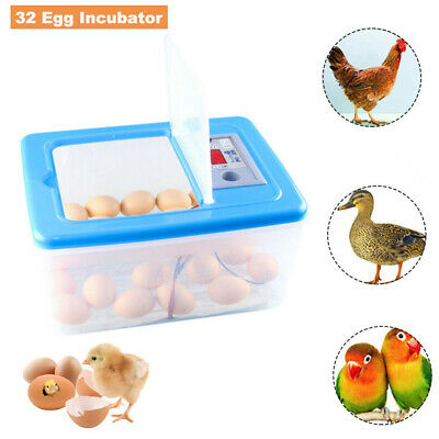 Farm Hatchery Machine 32 Egg Hatchers Chicken Duck Goose Egg Incubator UK Plug