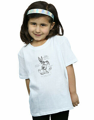 Looney Tunes Girls Bugs Bunny Drawing Instruction T-Shirt