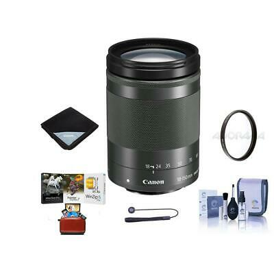 Canon EF-M 18-150mm f/3.5-6.3 IS STM Lens, Graphite With Free Accessory Bundle