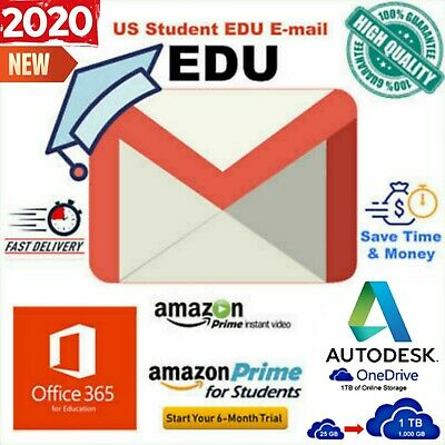 New Edu Email✅ Amazon Prime, Office 365✅1TB OneDrive Storage✅ Autodesk  And More