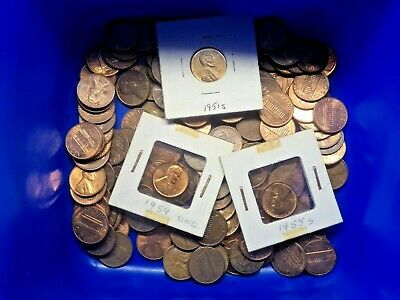 American USA One Cent Coins Bulk Lot 450 grams App 160 Unsorted Random Pick