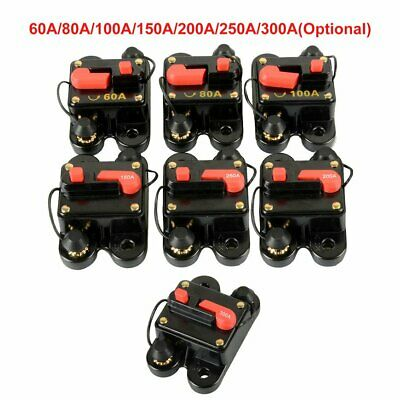 9 Amp Reset Circuit Breaker Thermal Fuse Push Red Button AC DC with Clear Cap 9A