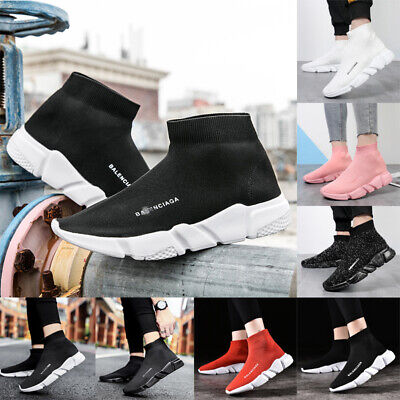 Womens Ladies Sneakers Trainers Sock Runners Comfy Speed Knit Gym Casual Shoes