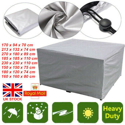 UK Heavy Duty Waterproof Patio/Garden Furniture Cover Outdoor Large Rattan Table