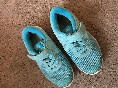 Nike Girls Turquoise Blue Trainers Size 11