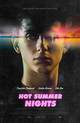 """Hot Summer Nights movie poster (a) 11"""" x 17"""" - Timothee Chalamet - (2018)"""