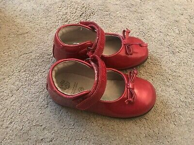 Lelli Kelly Girls Red Patent Bow Shoes Size Euro 25 Uk Size 8 Infant