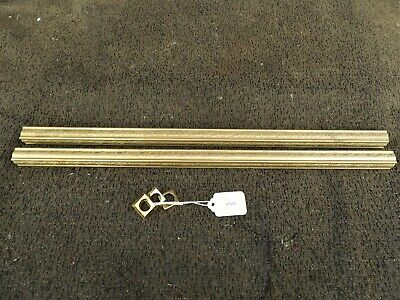"""2 Pieces Of 3/4"""" Shaped Embossed Brass Tubing , Free Shipping  # 1212"""