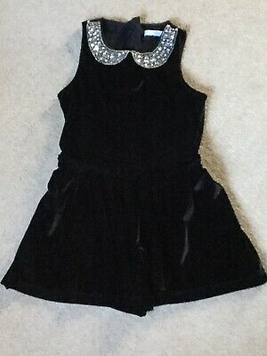 M&S Girls Velour Playsuit Size 5-6 Years