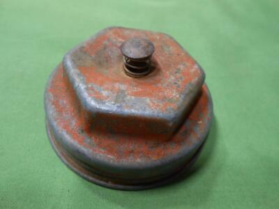 Vintage Metal Gas Can Cap Vented Push Button Gas Cap Large Cap Vented Gas Can