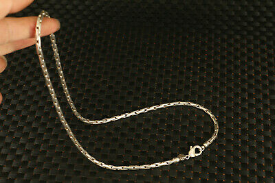 49g chinese old tibet silver fashion necklace